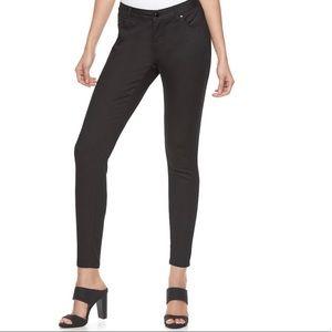 Jennifer Lopez Black Tie Skinny Jeans NWT